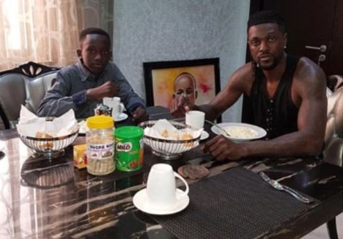Emmanuel Adebayor takes custody of his late brother's son and names him Junior Emmanuel Adebayor (Photo)