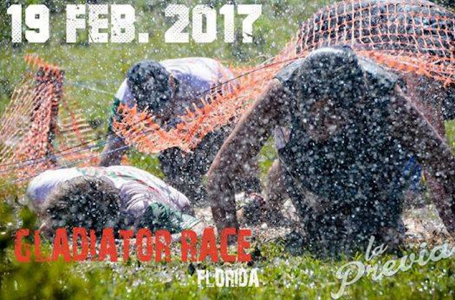 6k Gladiator Race Florida (carrera con obstáculos, Pista América - Florida, 19/feb/2017)