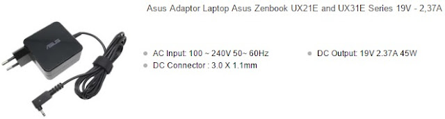 harga charger laptop asus zenbook original