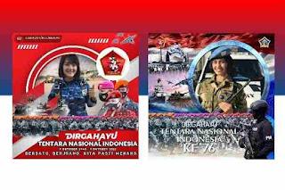 5 Link Twibbon HUT TNI Ke 76 2021 Terbaik di Twibbonize