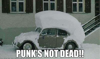 Auto Bild mit Spruch im Winter lustig