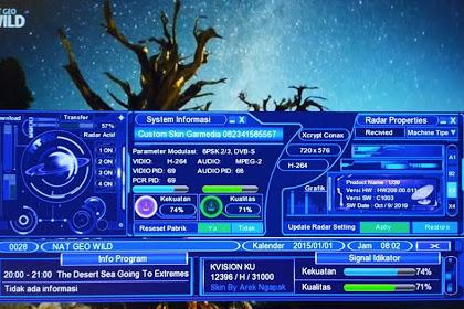 Software Upgrade Optus Gardiner LG-Sat GOL K-Vision - Spark Dark Blue News Skin
