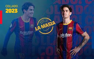 برشلونة يجدد عقد أليكس كولادو قائد فريق لاماسيا حتى 2023
