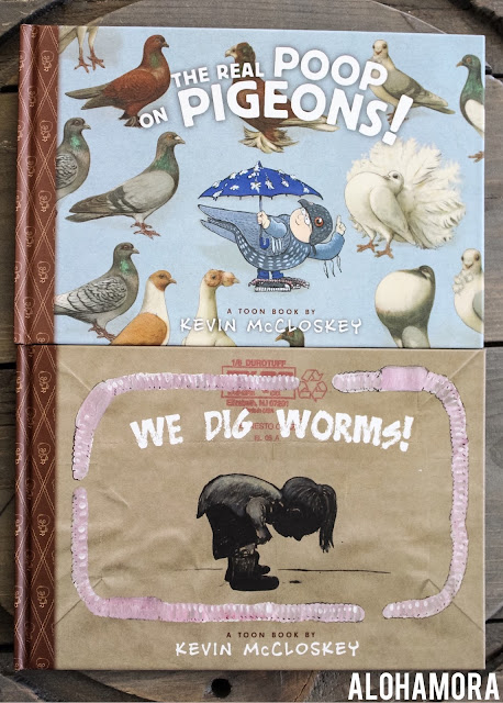 The Real Poop on Pigeons! by Kevin McCloskey gets 4 stars in my book review of this non-fiction comic/Toon Book.  This easy to read informational text is presented in an easy way that even reluctant readers will enjoy.  The information is great b/c pigeons are relatable (aka kids see them all the time) and the facts are cool. Great book for 2nd, 3rd, 4th, or 5th grade (boys or girls). Birds, true facts, comics Alohamora Open a Book http://alohamoraopenabook.blogspot.com/