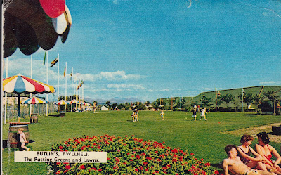 Butlin's Pwllheli The Putting Greens and Lawns. CT1306. 1 June 1964