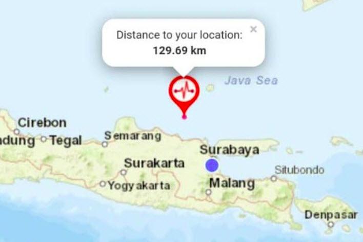 Aneh,  Gempa di Tuban 5,2 M Tak terasa