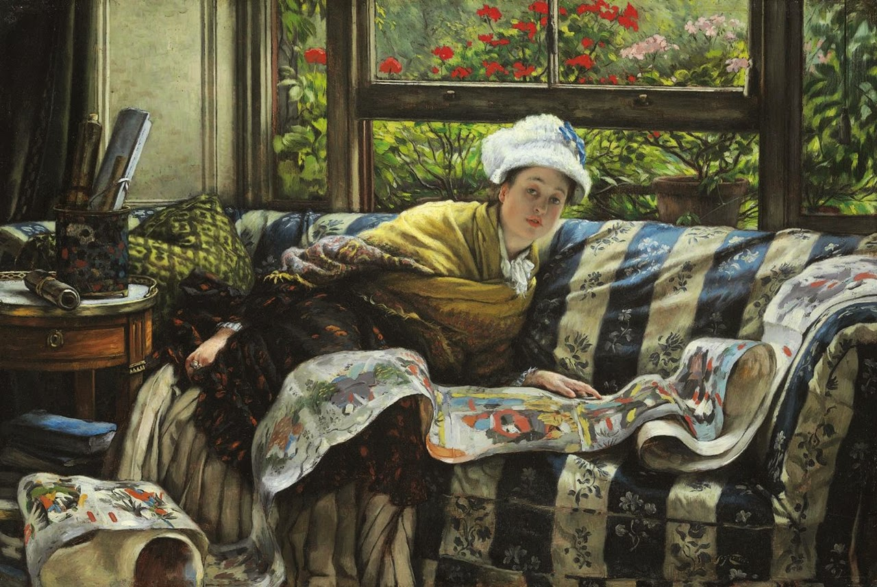 James  Tissot    French  Painter C    D     The  Japanese  Scroll