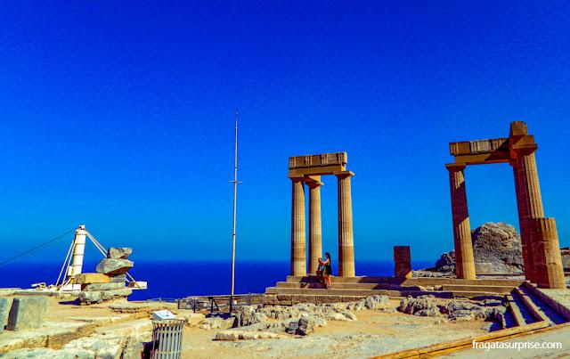 Estoa da Acrópole de Lindos, Grécia
