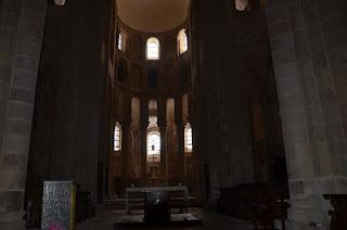 Conques. Interior de l'església de Sainte-Foy