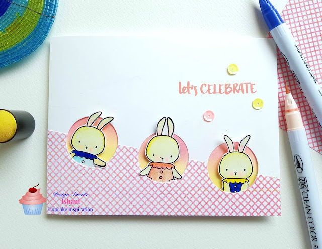 cards by ishani, MFT stamps Somebunny, bunny card, quillish