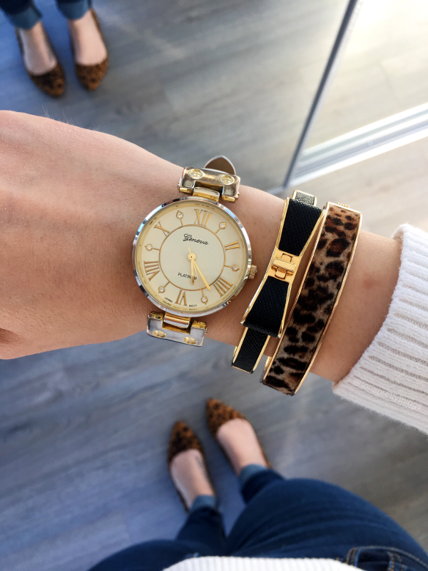 White Spring Outfit Arm Candy, White Watch, Kate Spade Bracelet - Tori's Pretty Things Blog