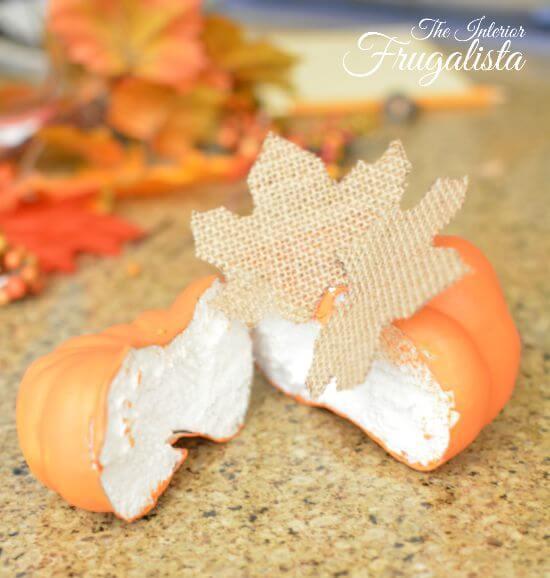 DIY Jumbo Scrabble Tile Fall Banner Pumpkin Assembly