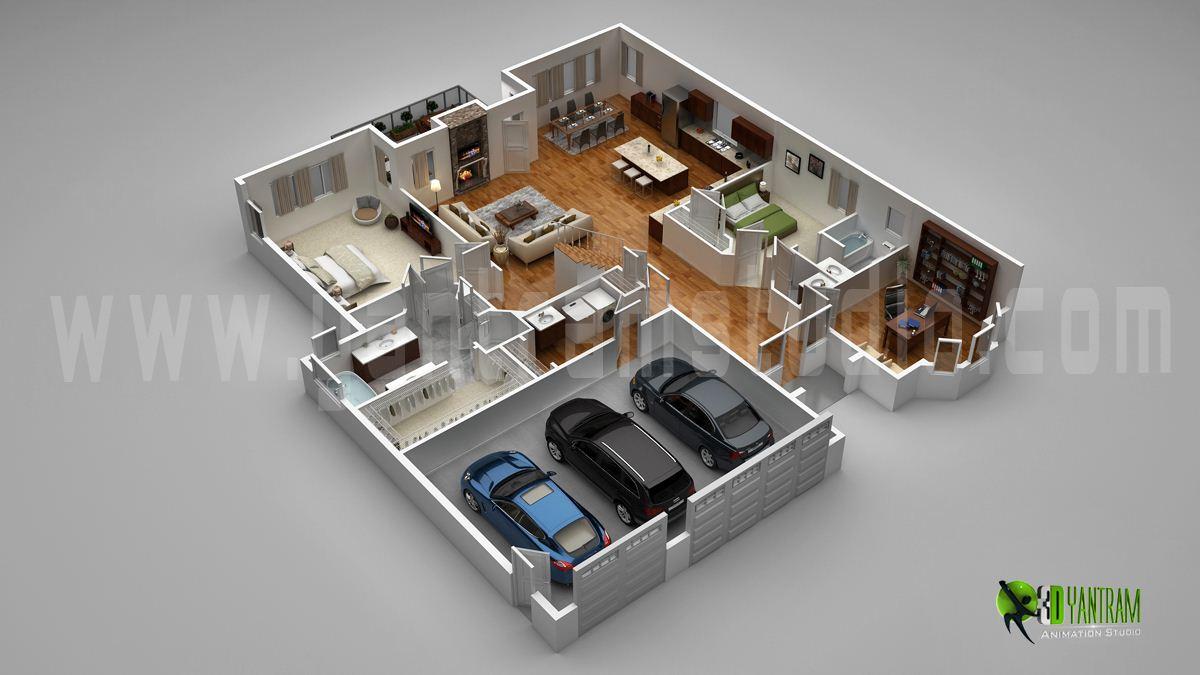 Stylish%2BModern%2BHome%2B3D%2BFloor%2BPlans%2B%25284%2529 Stylish Home 3D Floor Plans Interior