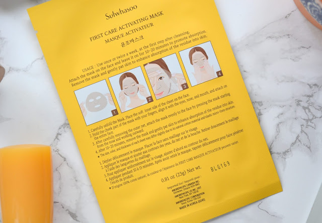 Sulwhasoo First Care Activating Mask Review