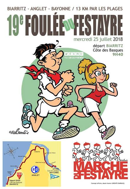Foulée du Festayre Biarritz à Bayonne