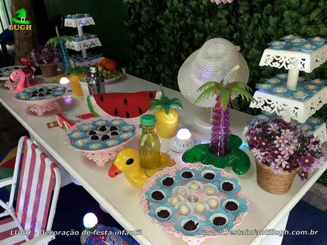 Decoração de aniversário Pool Party, Festa na Piscina, tema infantil