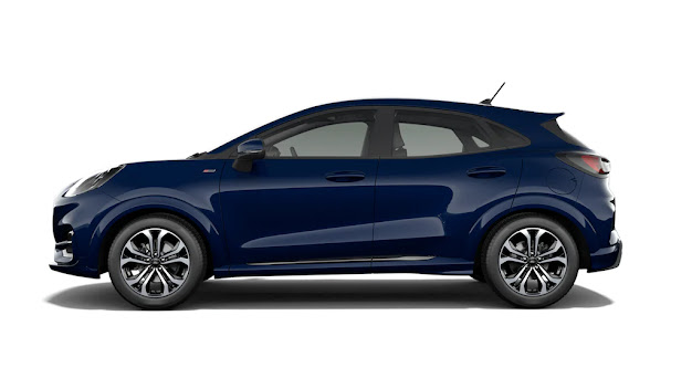 Side view of Ford Puma ST Line 2020