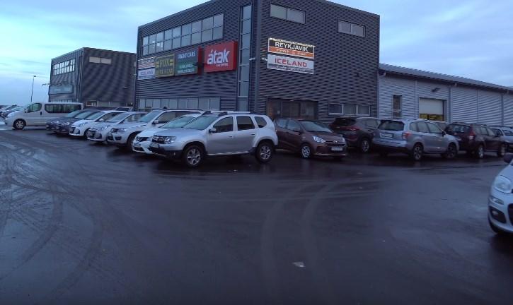 rent a car Reykjavik airport big office