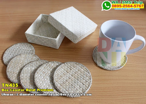 Box Coaster Bulat Premium