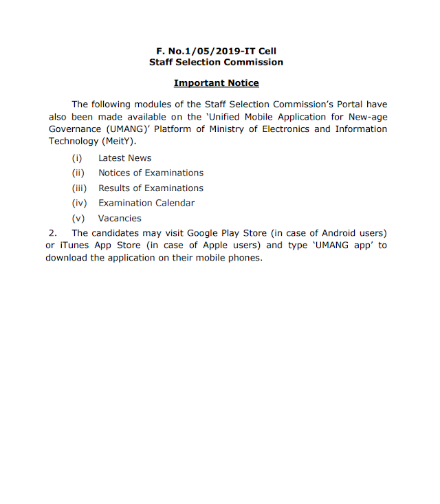 SSC Latest News Notification Released Today 30 April 2020