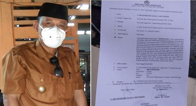 Lurah Jeppe'E Lapor ke Polisi Terkait Dugaan Penggelapan PBB