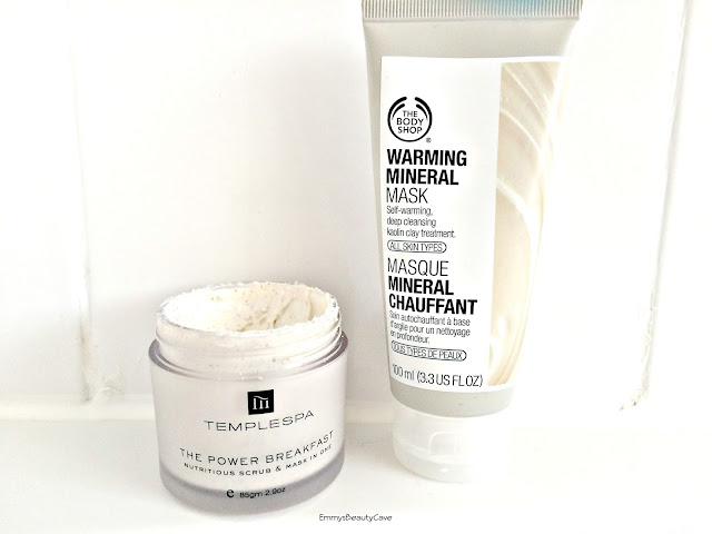 masks for oily skin, temple spa the power of breakfast mask, the body shop warming mineral mask