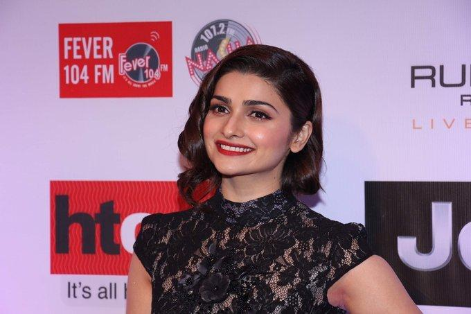 Prachi Desai Stills In Black Dress At HT Most Stylish Awards 2017