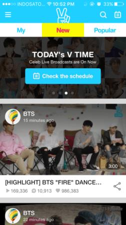 V – Live Broadcasting App