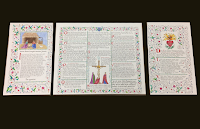 Hand Illuminated Altar Cards by Pelican Printery House
