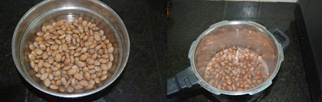 pinto beans soaked overnight and cooked until soft