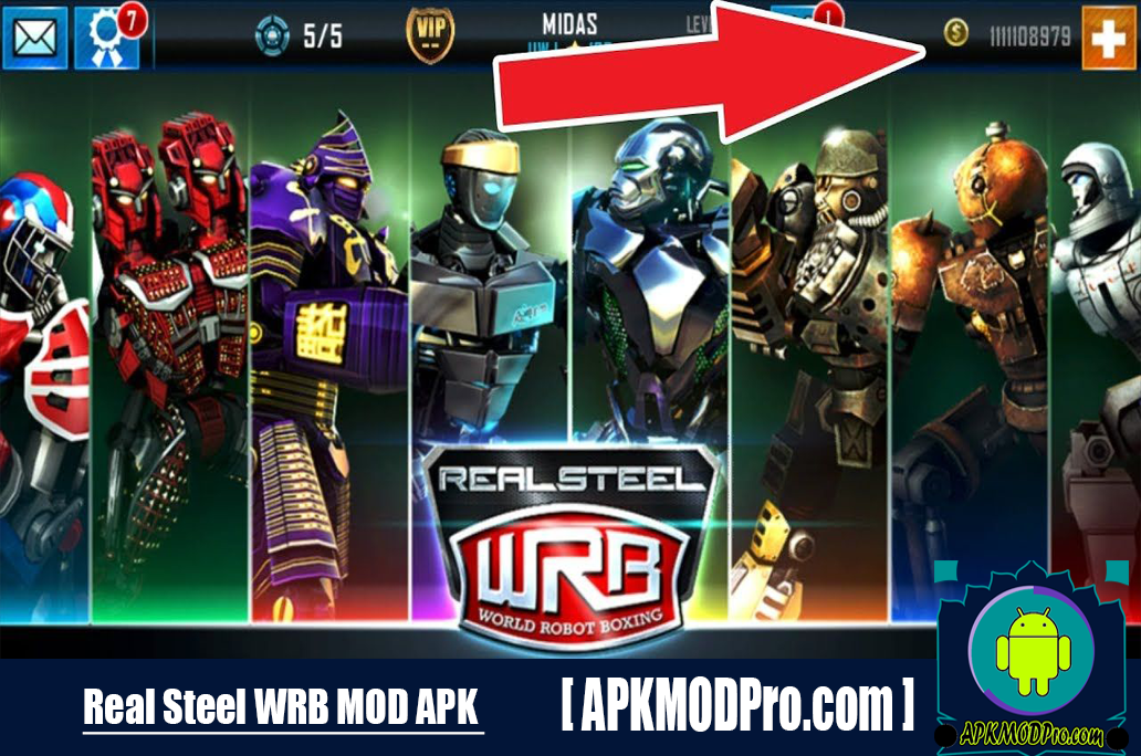 Download Real Steel World Robot Boxing MOD APK 45.45.116 (Unlimited Money) For Android