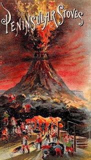 background image volcano advertisement stove illustration clipart