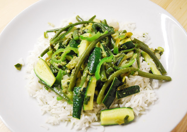 Curry vert de légumes verts
