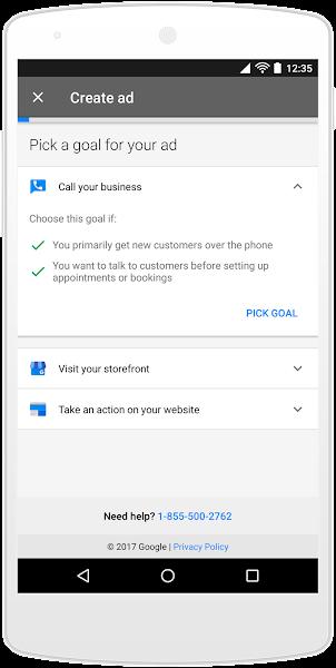 В Google AdWords Express появились цели