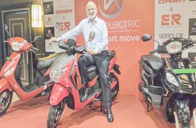 Hero electric launch dash scooter in 60km per charge.