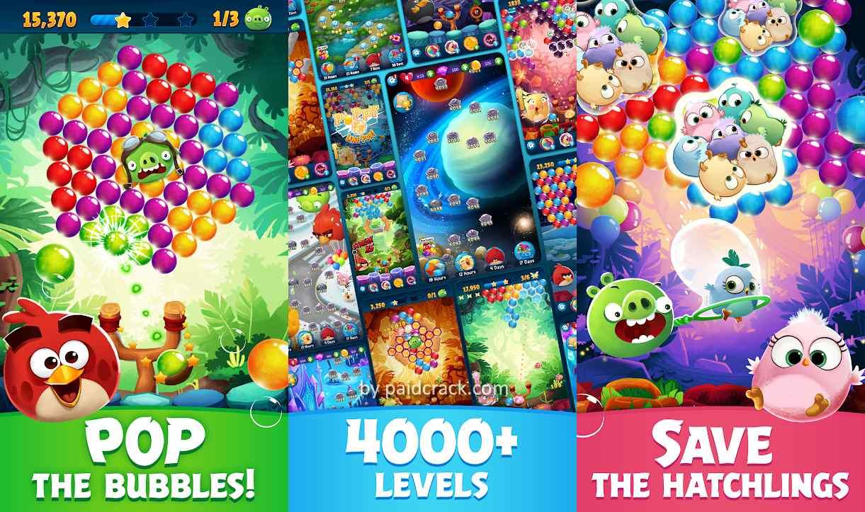 Angry Birds POP Bubble Shooter Mod Apk 3.92.3