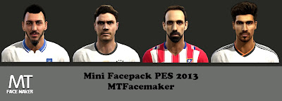 PES 2013 Mini Facepack by MTFacemaker