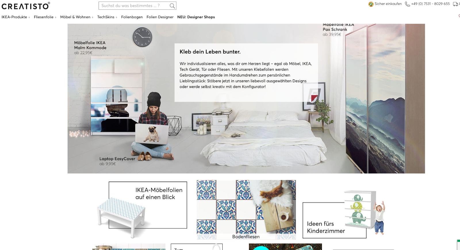 creatisto klebefolie f r m bel und fliesen. Black Bedroom Furniture Sets. Home Design Ideas