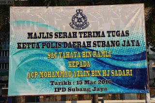 Majlis Serah Terima Tugas KPD Subang Jaya