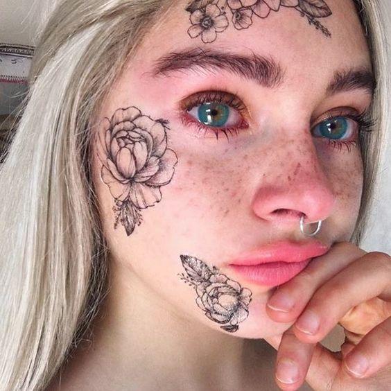 Tatuajes Faciales O En La Cara