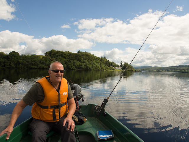 Photo of Phil trolling on Loch Awe