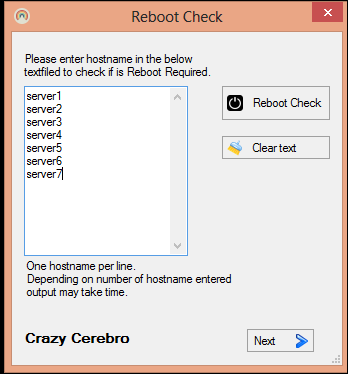 Check if Reboot is Required on multiple server - using