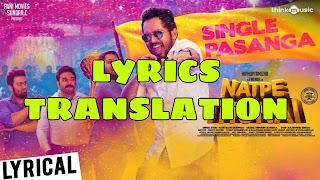 Single Pasanga Lyrics in English | With Translation |– Natpe Thunai
