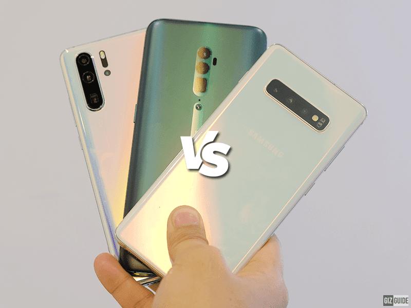 Samsung Galaxy S10+ vs Huawei P30 Pro vs OPPO Reno 10x Zoom Specs Comparison