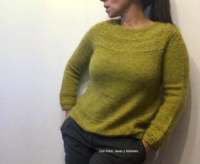 Con hilos, lanas y botones: Jersey Hardy (patrón de Lola Dacosta)