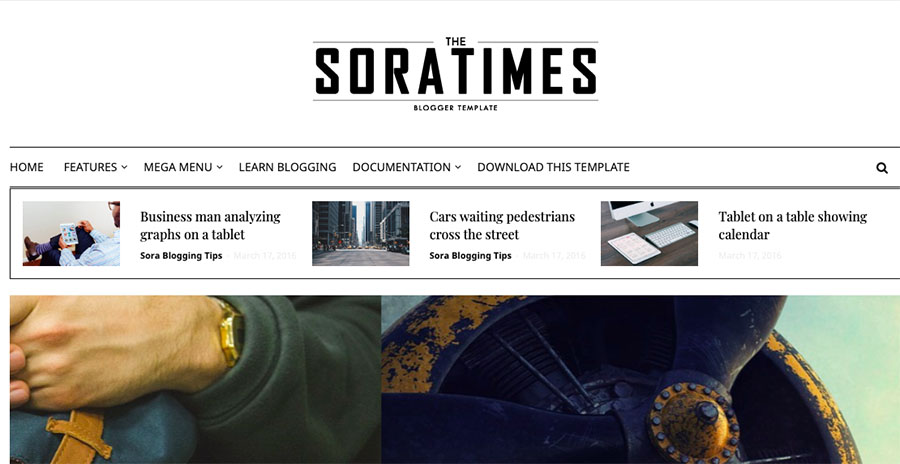 Sora Times - Responsive Blogger Template