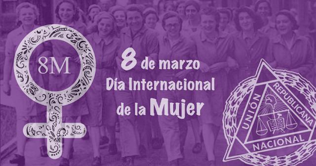 Comunicado de las Mujeres de Unión Republicana para el 8 de Marzo