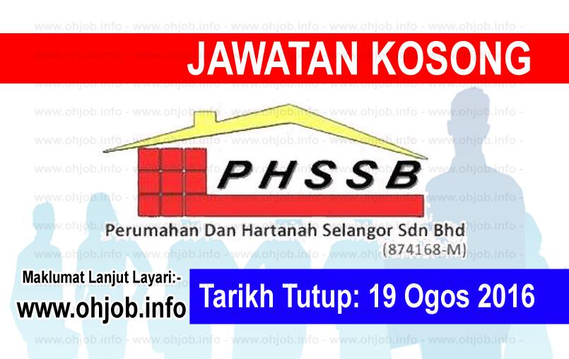Jawatan Kerja Kosong Perumahan dan Hartanah Selangor (PHSSB) logo www.ohjob.info ogos 2016