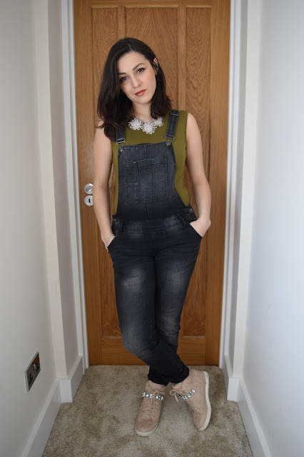 What Cat Wore | Denim Dungarees - Outfit Shot 3