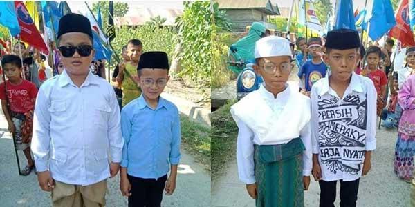 Berdandan ala  Prabowo-Sandi dan Jokowi-Ma'ruf, 4 Bocah Ini Viral di Medsos